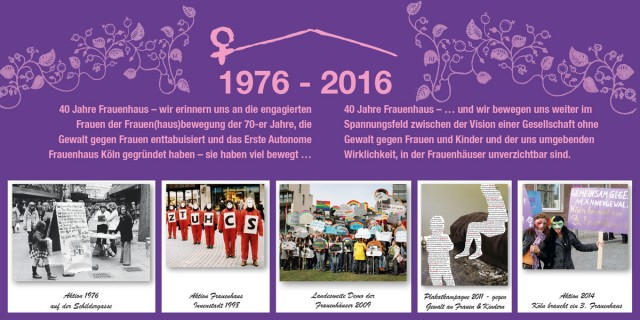 Frauenhaus 40 Jahre
